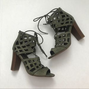 G by GUESS olive Green heels